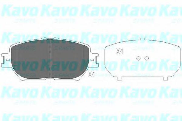 Тормозные колодки KAVO PARTS KBP-9070