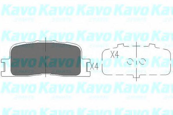 Тормозные колодки KAVO PARTS KBP-9077