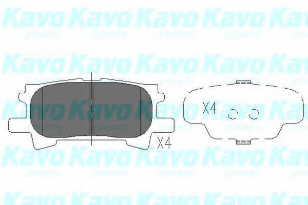 Тормозные колодки KAVO PARTS KBP-9078