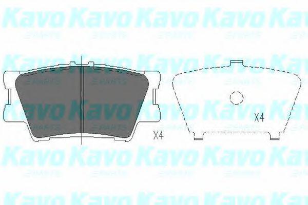 Тормозные колодки KAVO PARTS KBP-9086