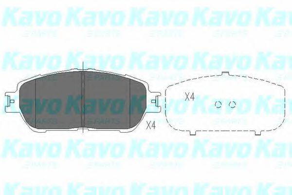 Тормозные колодки KAVO PARTS KBP-9105
