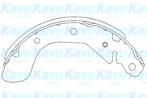 Тормозные колодки KAVO PARTS KBS-1401