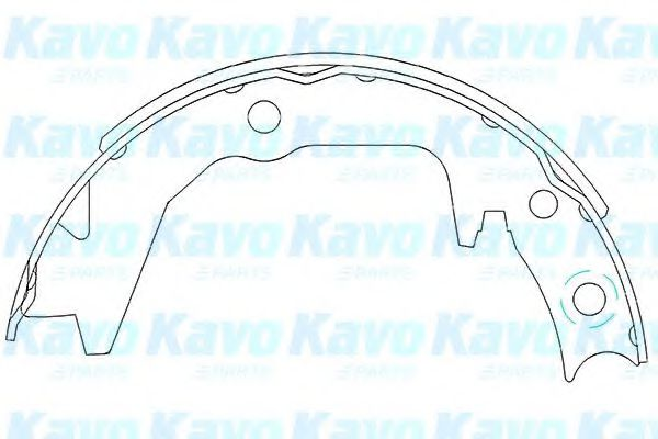 Тормозные колодки KAVO PARTS KBS-6404