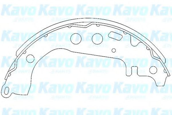 Тормозные колодки KAVO PARTS KBS-9904