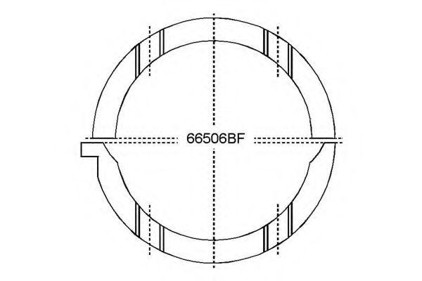 Дистанционная шайба коленвала GLYCO A208/2 STD