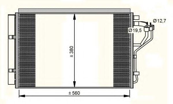 Радиатор кондиционера NRF 35996