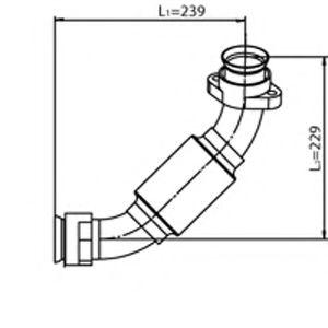 Труба выхлопного газа DINEX 54232