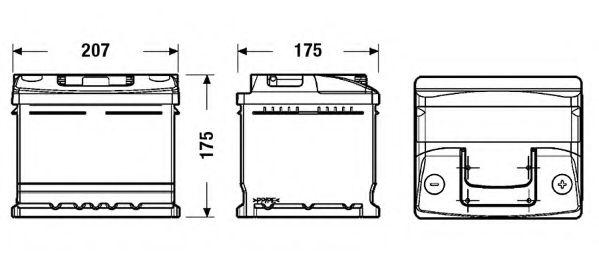 Стартерная аккумуляторная батарея EXIDE EC412