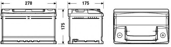 Стартерная аккумуляторная батарея EXIDE EC652