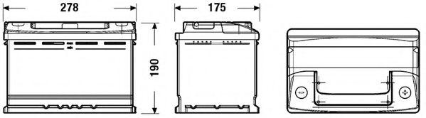 Стартерная аккумуляторная батарея EXIDE EC700