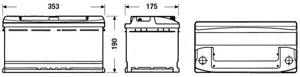 Стартерная аккумуляторная батарея EXIDE EC900