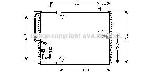 Радиатор кондиционера AVA QUALITY COOLING BW5183