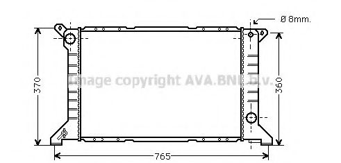 Радиатор, охлаждение двигателя AVA QUALITY COOLING FD2203