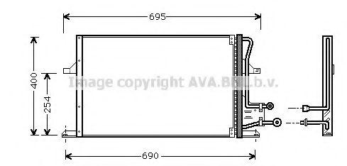 Радиатор кондиционера AVA QUALITY COOLING FD5227