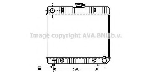 Радиатор, охлаждение двигателя AVA QUALITY COOLING MS2043