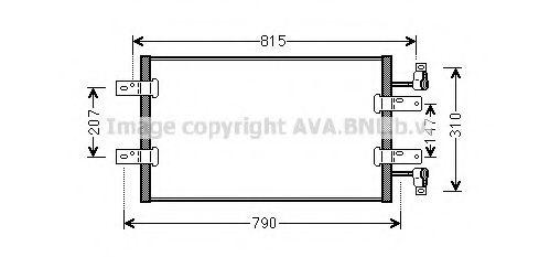 Радиатор кондиционера AVA QUALITY COOLING RT5451