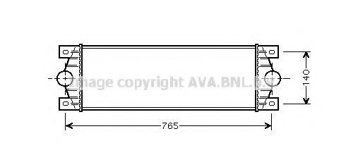 Интеркулер AVA QUALITY COOLING RTA4329