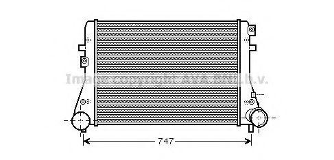 Интеркулер AVA QUALITY COOLING VWA4306