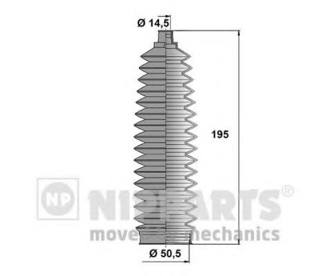 Комплект пыльников рулевой рейки NIPPARTS N2842034