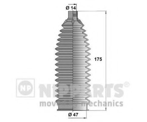 Комплект пыльников рулевой рейки NIPPARTS N2845006