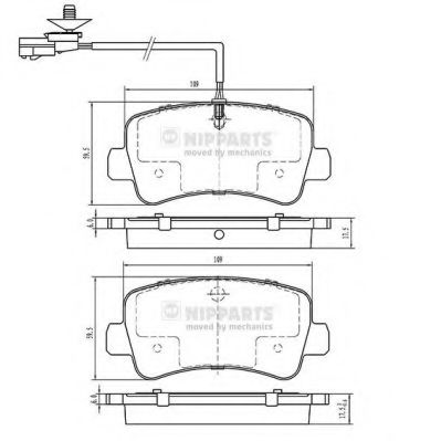 Тормозные колодки NIPPARTS N3611057