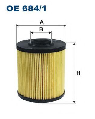 Масляный фильтр FILTRON OE684/1