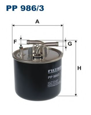 Топливный фильтр FILTRON PP986/3