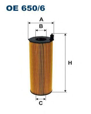 Масляный фильтр FILTRON OE650/6