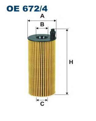 Масляный фильтр FILTRON OE672/4