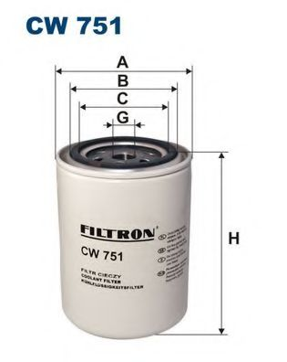 Фильтр для охлаждающей жидкости FILTRON CW751