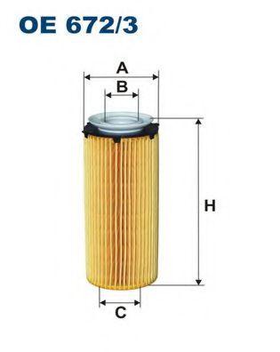 Масляный фильтр FILTRON OE672/3