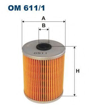 Фильтр масла гидроусилителя (ГУР) FILTRON OM611/1