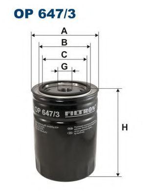 Масляный фильтр FILTRON OP647/3