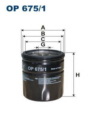 Масляный фильтр FILTRON OP675/1