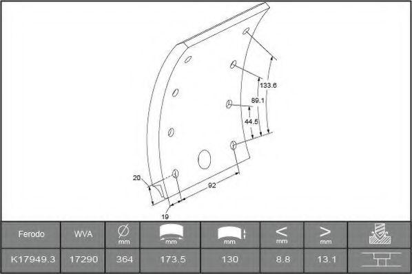 Тормозные колодки BERAL 1729015400015616