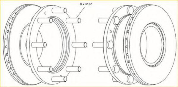 Тормозной диск BERAL BCR308A