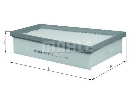 Воздушный фильтр MAHLE ORIGINAL LX 3014