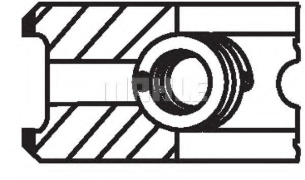 Поршневые кольца MAHLE ORIGINAL 002 49 N3