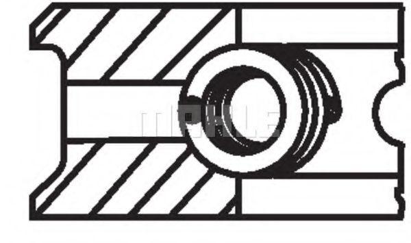 Поршневые кольца MAHLE ORIGINAL 083 26 N0