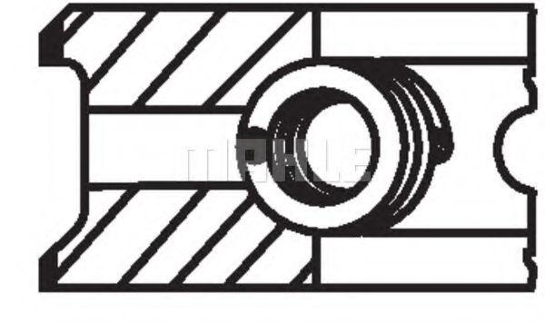 Поршневые кольца MAHLE ORIGINAL 008 56 N0