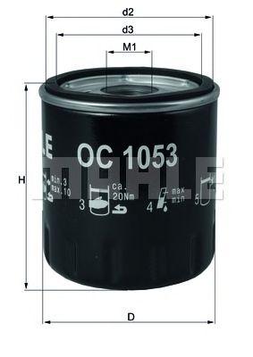 Масляный фильтр MAHLE ORIGINAL OC 1053