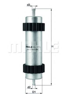 Топливный фильтр MAHLE ORIGINAL KL 915