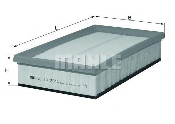 Воздушный фильтр MAHLE ORIGINAL LX 3344