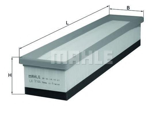 Воздушный фильтр MAHLE ORIGINAL LX 3144