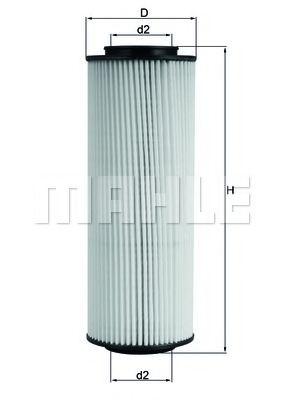 Масляный фильтр MAHLE ORIGINAL OX 775D