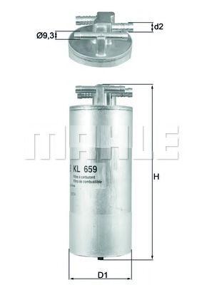 Топливный фильтр MAHLE ORIGINAL KL 659