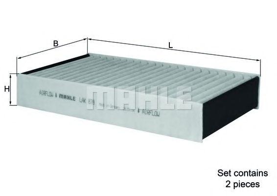 Фильтр салона MAHLE ORIGINAL LAK 878/S