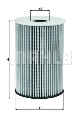 Масляный фильтр MAHLE ORIGINAL OX 787D