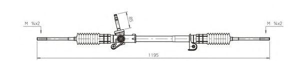 Рулевой механизм GENERAL RICAMBI FO4023