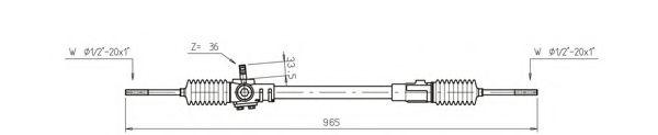 Рулевой механизм GENERAL RICAMBI IN4001